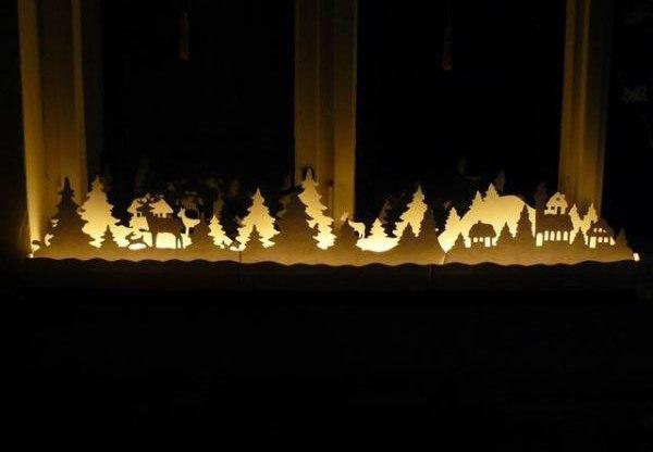Новогодняя инсталляция своими руками на картоне