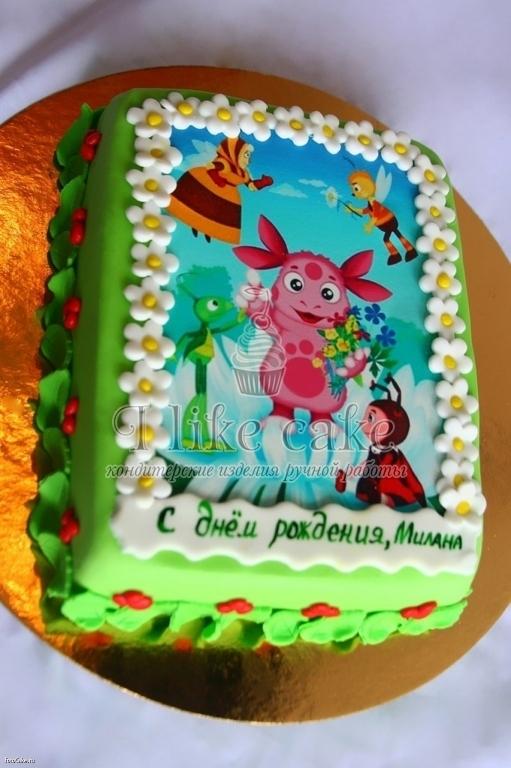 торт с фото лунтика