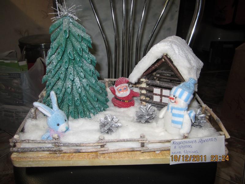 Поделки новогодние в детский сад пошагово 11
