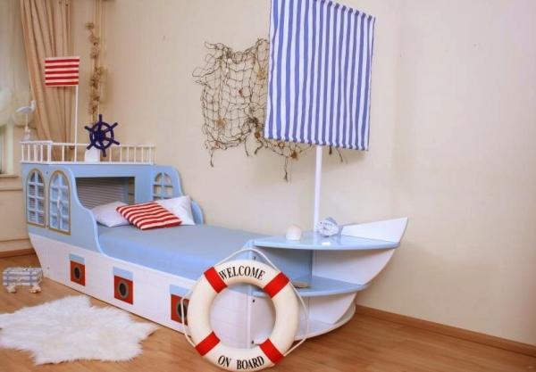 Кровать детская корабль своими руками 38