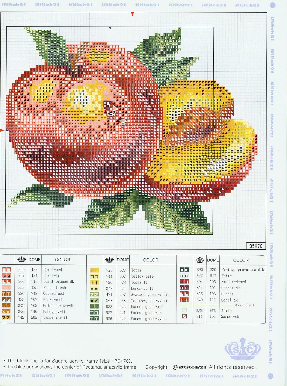 Схемы вышивки крестом персик 56