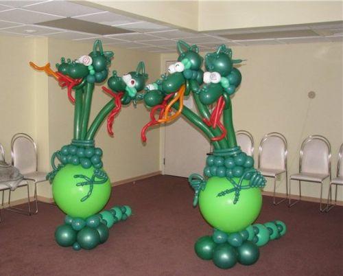 Как сделать из шарика сделать змея