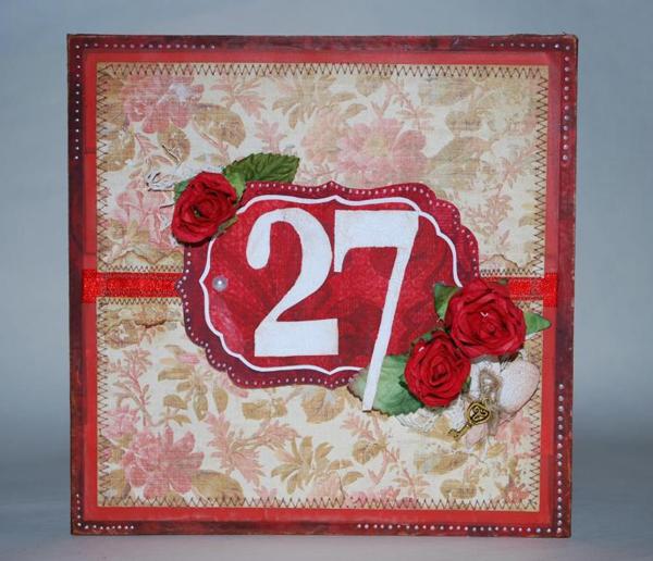 Открытка 27 лет день свадьбы, волга