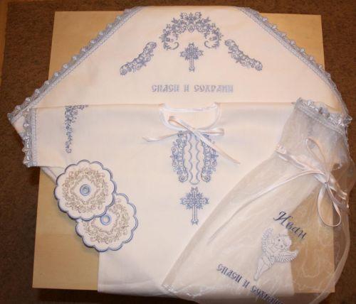 Крестильный набор вышивка крестом 94