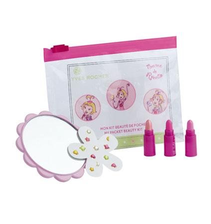 Набор косметики для макияжа для девочек мини-помада для губ - 3 х 0,4