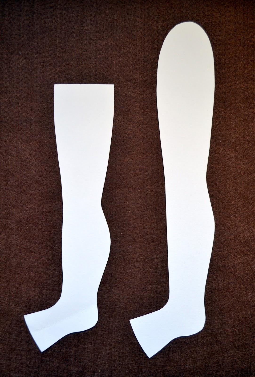 Как сшить ноги для текстильной куклы 16