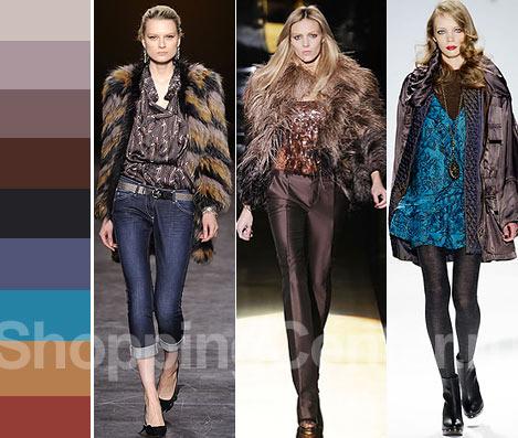 Цветовой акцент. Модные цвета 2011. На фото модная одежда из