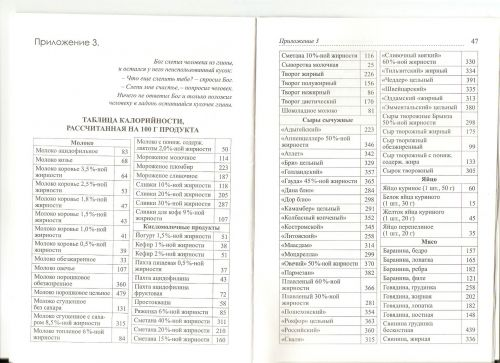 Диета доктора борменталя таблица