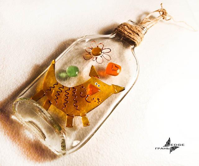 Фотоколлаж на бутылку