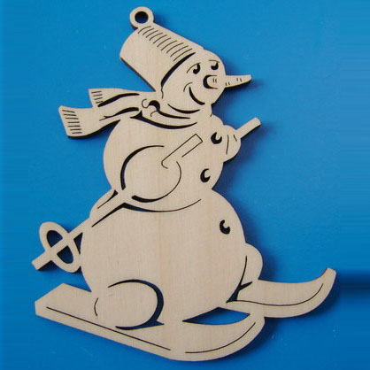 Снеговик из фанеры для улицы своими руками