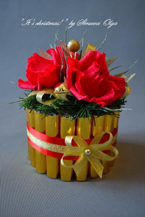 Своими руками подарок из бумаги и конфет