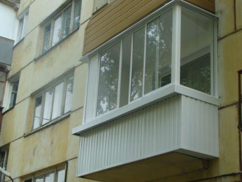 Балкон панельного дома. - галерея работ балконов под ключ - .