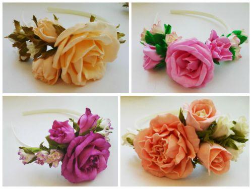 Роза из фоамирана мастер класс ободок