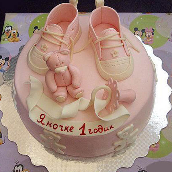В этом. .  Рецепт торта ребенку на 1 год для девочки и мальчика.