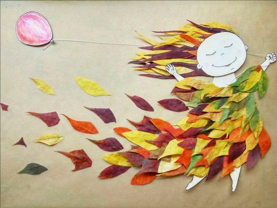 Большой осенний пост необычных поделок из листьев